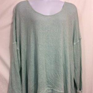 Torrid 5X blue twist back sweater knit tunic top